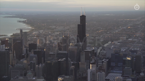 Chicago: Aerial Sunrise 12
