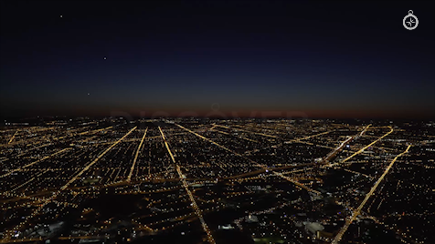 Chicago: Aerial Dusk Wide 19