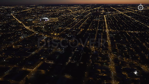 Chicago: Aerial Dusk Wide 20