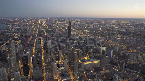 Chicago: Aerial Dusk Wide 22