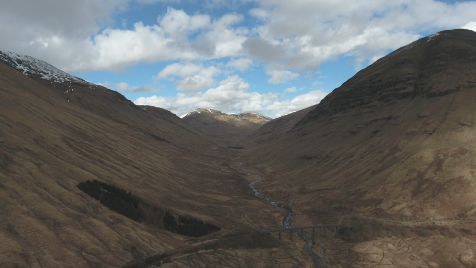 Scottish Highlands: Aerial 1
