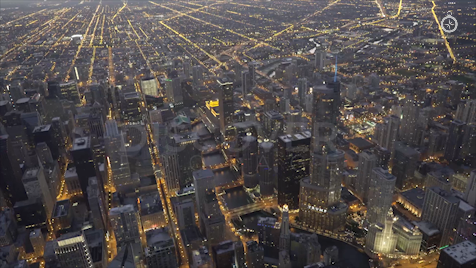 Chicago: Aerial Dusk Wide 24