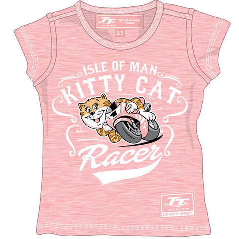 Official Isle of Man TT Baby T-Shirt Kitty Cat BKTS2