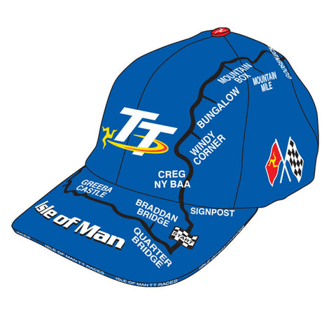 Official Isle of Man TT Cap Mountain Course - Royal Blue H3