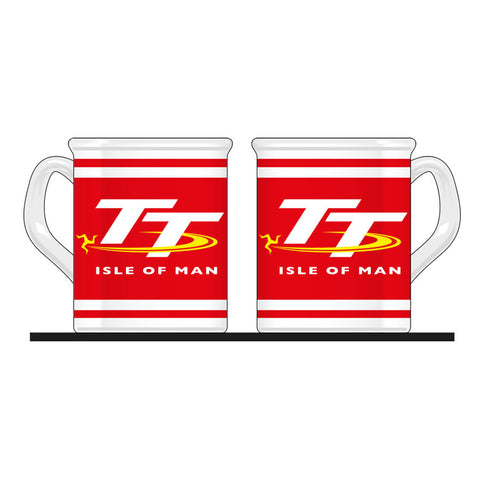 Official Isle of Man TT Mug - Red & White MUG3