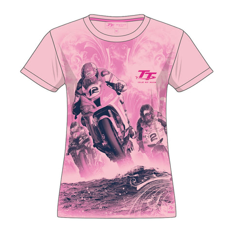 Official Isle of Man TT Kids Girls T-shirt ZGTS1