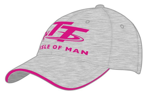 Official Isle of Man TT Cap Grey Pink