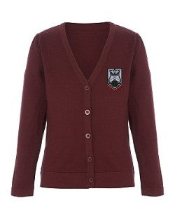 QEII High School - Embroidered Cardigan CLICK & COLLECT SERVICE ONLY