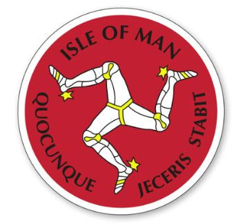 Official Isle of Man Sticker- Manx 3 Legs