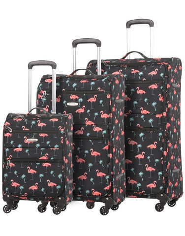 Suitcase 5 Cities 4 Wheel Flamingo 688
