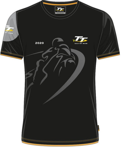Official Isle of Man TT T-shirt - Custom Shadow Bike 2020 ACTS1