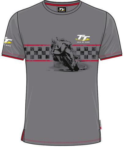 Official Isle of Man TT T-shirt - Custom Bike No. 1 Red Trim ACTS3