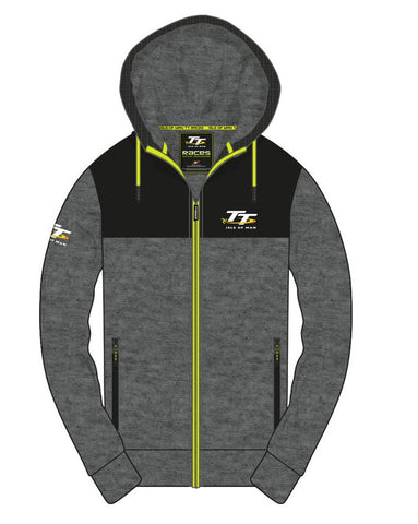 Official Isle of Man TT Hoodie Zip Grey AH8