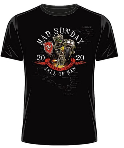 Official Isle of Man TT T-shirt - Mad Sunday 2020 ATS12