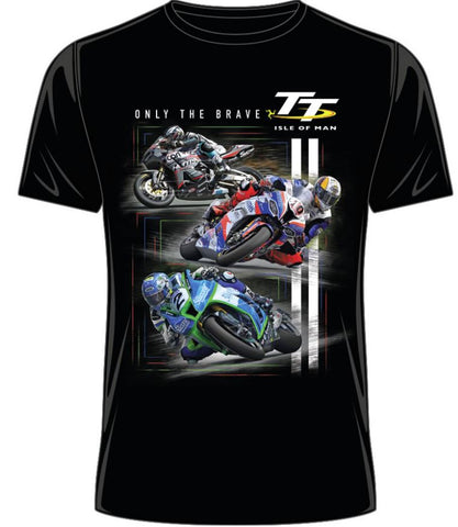 Official Isle of Man TT T-shirt - Only The Brave ATS22