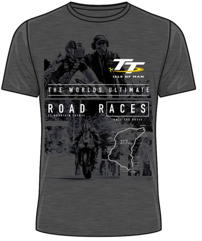 Official Isle of Man TT T-shirt - Road Races Grey ATS24