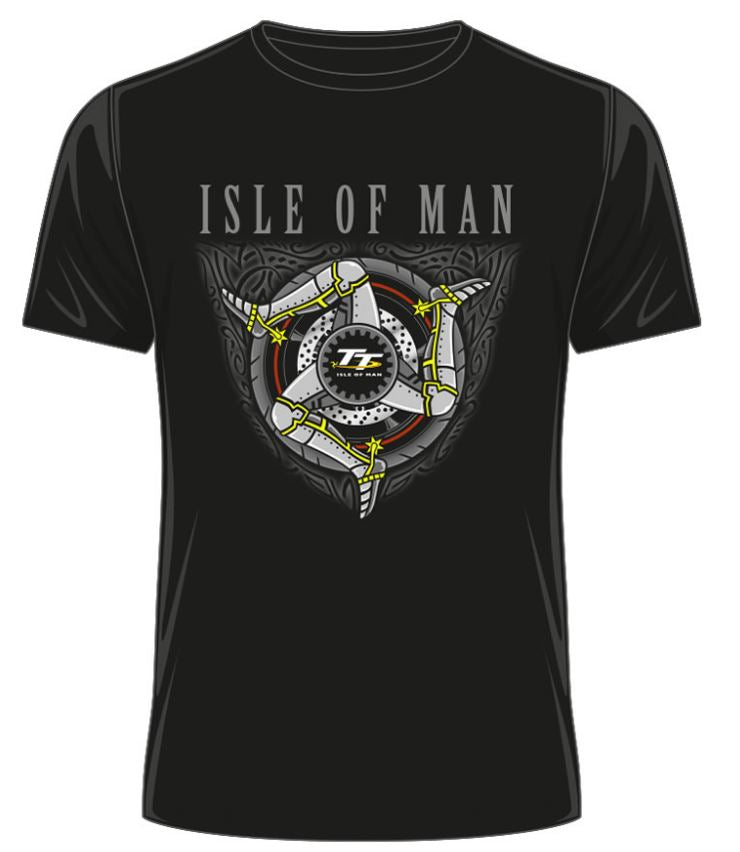 Official Isle of Man TT T-shirt 3 Legs ATS18 ( 3 Colours: Black, Grey & Khaki)