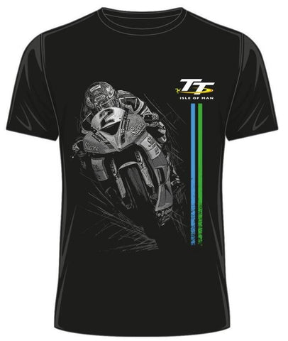 Official Isle of Man TT T-shirt - Bike No,2 ATS7 ( 2 Colours: Black & Grey)