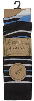 Mens Bamboo Striped Mix Ankle Socks 3 Pack