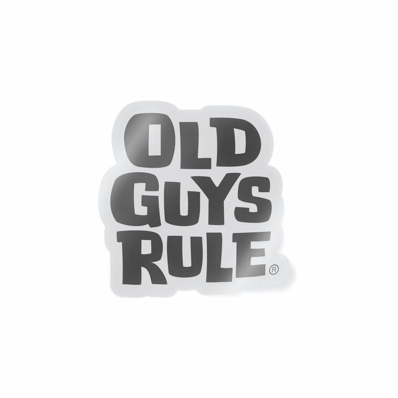 Old Guys Rule Stacked logo Decal