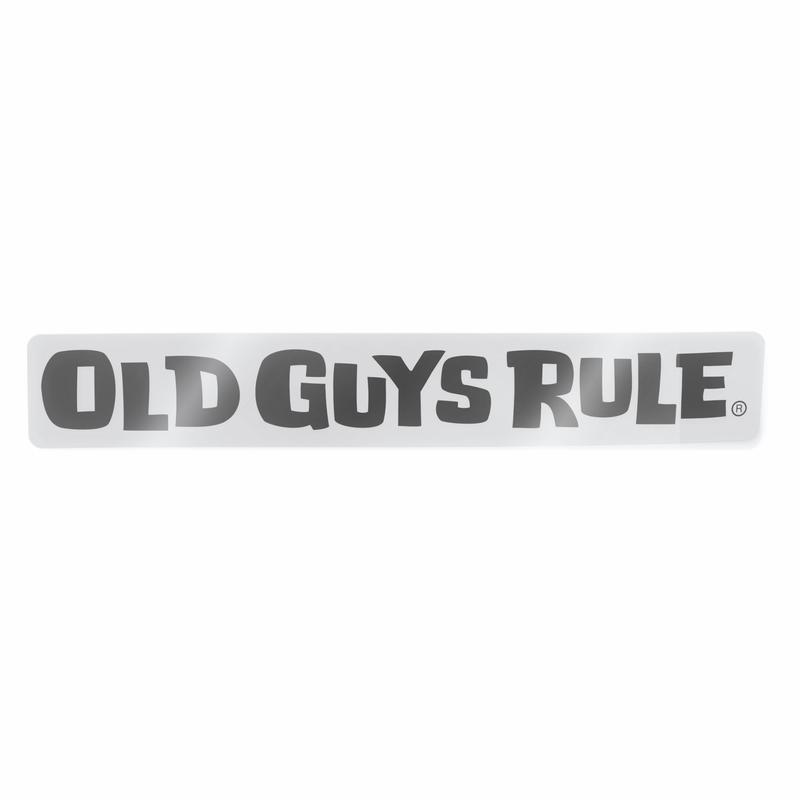 Old Guys Rule Horizontal logo Decal