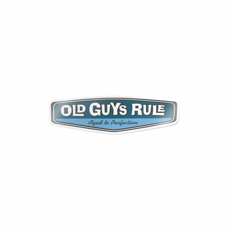 Old Guys Rule Rear View Decal