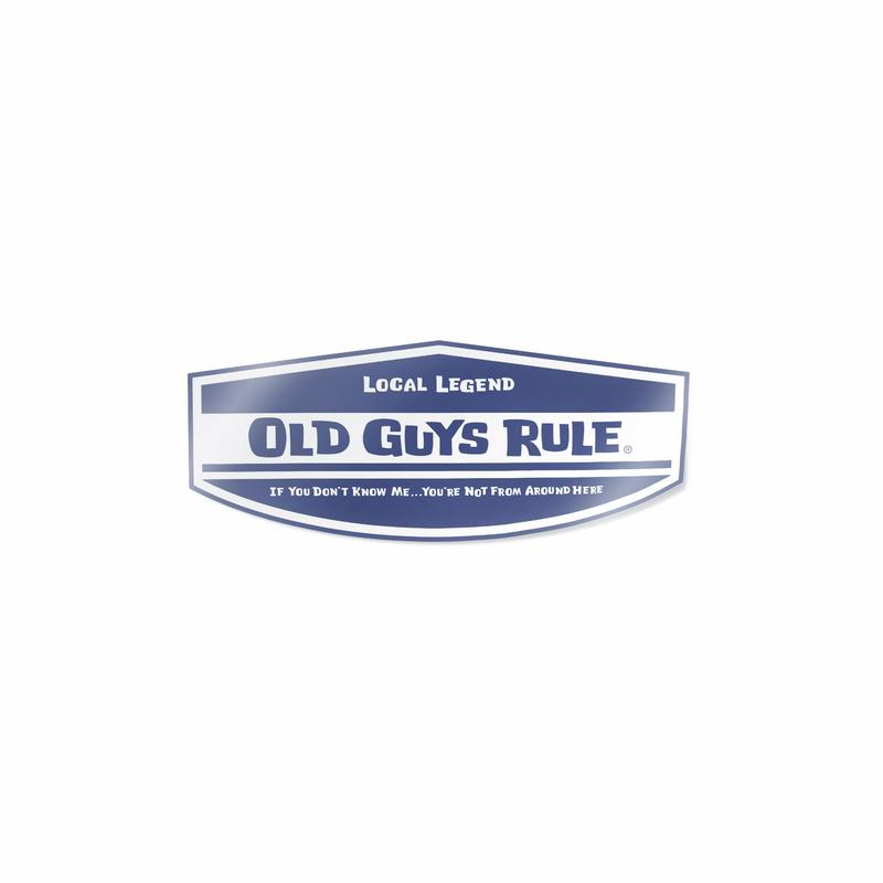 Old Guys Rule Local Legend Decal