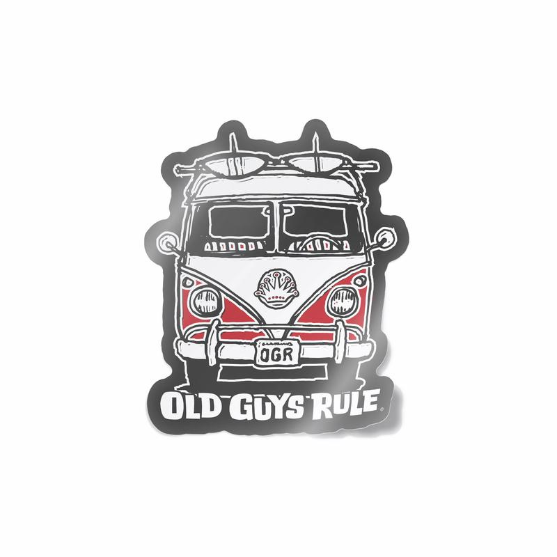 Old Guys Rule Good Vibes Decal