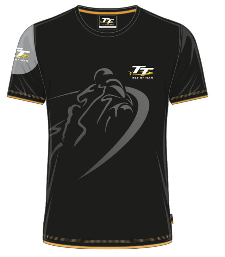 Official Isle of Man TT Kids T-shirt- Black Shadow ZKCTS1