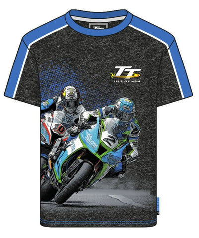 Official Isle of Man TT Kids T-shirt- Bike No. 2 & No. 10 ZKCTS2