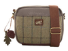 Hawkins Country Classic Collection Tweed and Herringbone Small Shoulder Bag LB42