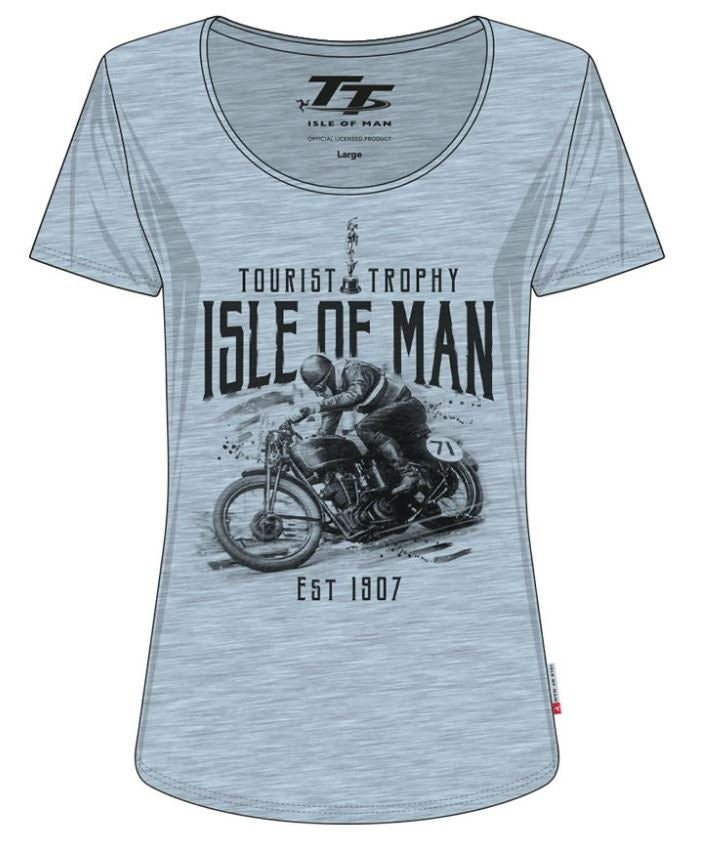 Official Isle of Man TT Ladies T-shirt Scoop LTS11