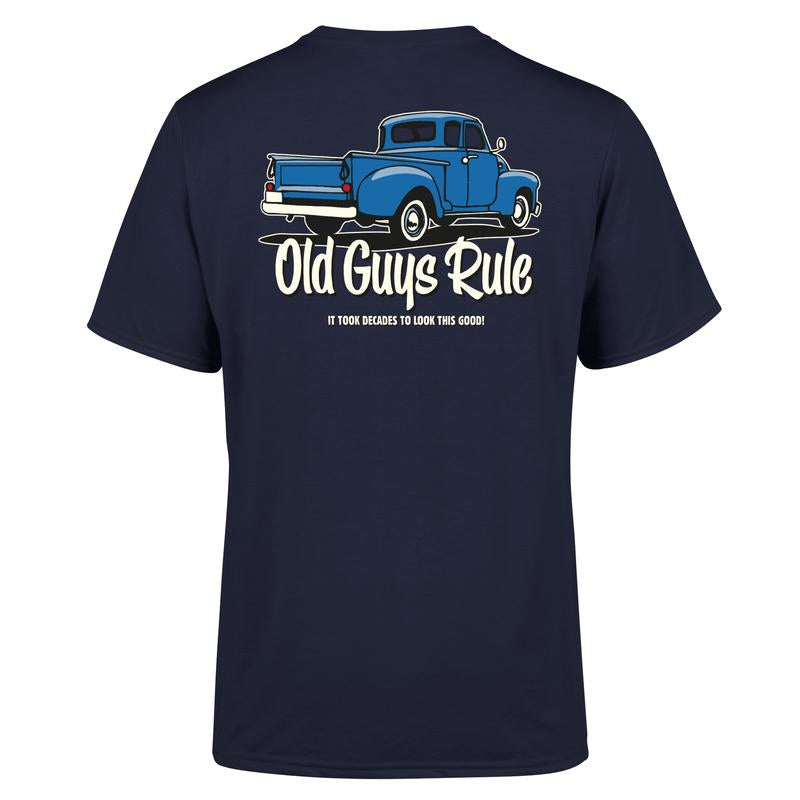 Old Guys Rule Decades T Shirt