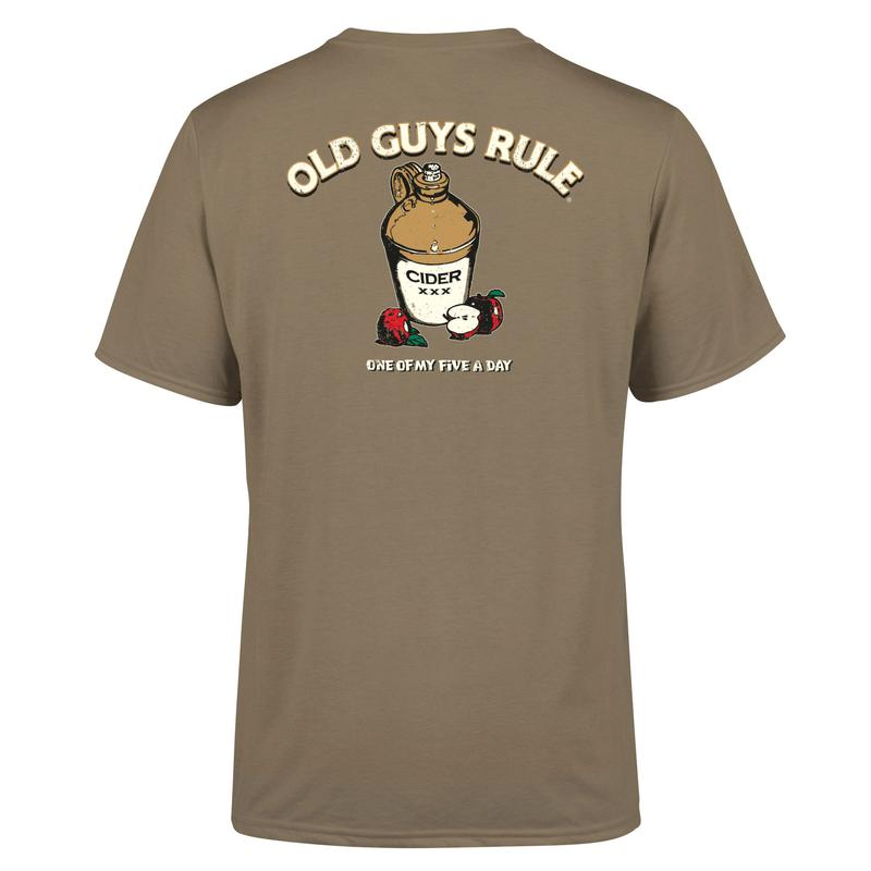Old Guys Rule Five a Day T Shirt