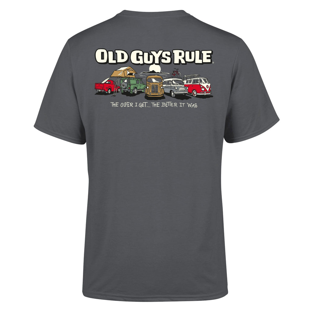 Old Guys Rule Parking Lot T Shirt