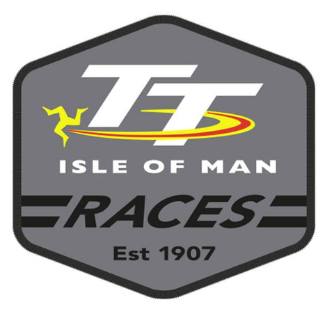 Official Isle of Man TT Patch - Grey Hexagon