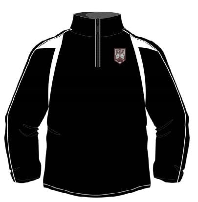 QEII High School - Embroidered Sports Fleece Top GIRLS CLICK & COLLECT SERVICE ONLY
