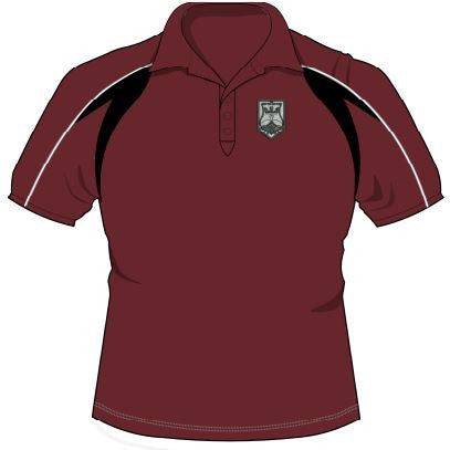 QEII High School - Embroidered Sports Polo Shirt CLICK & COLLECT SERVICE ONLY