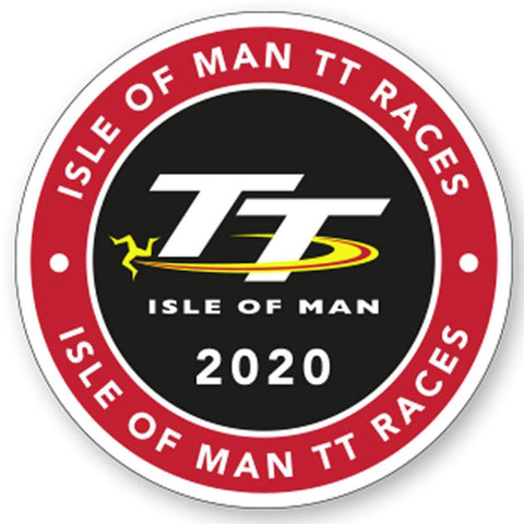 Official Isle of Man TT Sticker 2020- Round small
