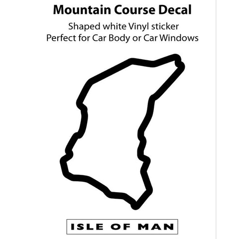 Official Isle of Man TT Sticker- TT Course Vinyl Sticker - 2 Colours