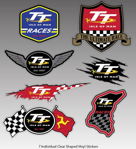 Official Isle of Man TT Sticker Set- STICKERSET1