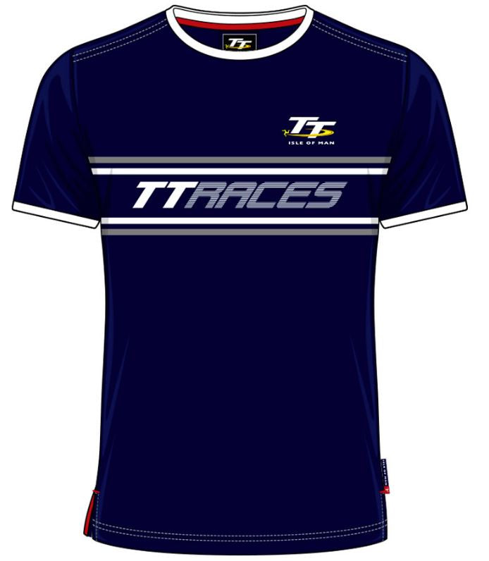 Official Isle of Man Vintage TT T-shirt Navy TT Races VTS5