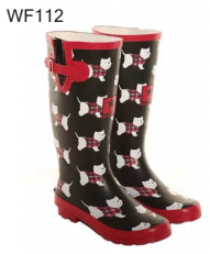 Hawkins Rubber Wellington Boot - Westie Print WF112