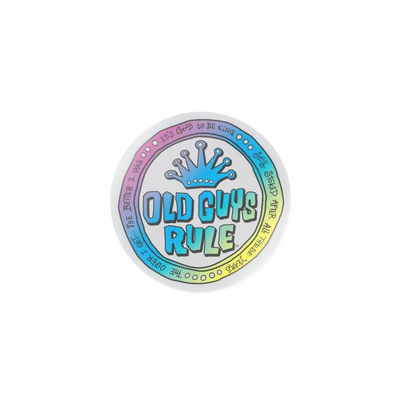 Old Guys Rule Coin Logo Decal