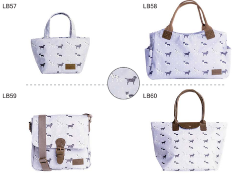 Hawkins Dog Bags - Small Tote, Large Tote, Shopper and Cross Body LB57 - 60
