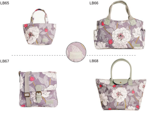 Hawkins Flower Bags - Small Tote, Large Tote, Shopper and Cross Body LB 65-68