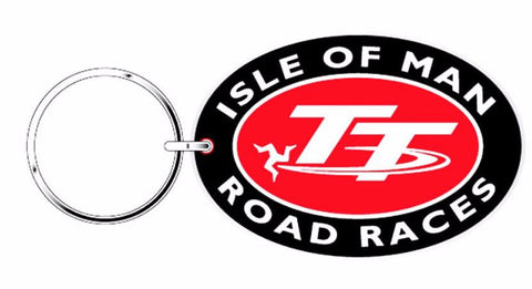 Official Isle of Man Oval Road Races Keyring