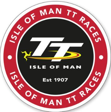 Official Isle of Man TT Window Sticker- Round