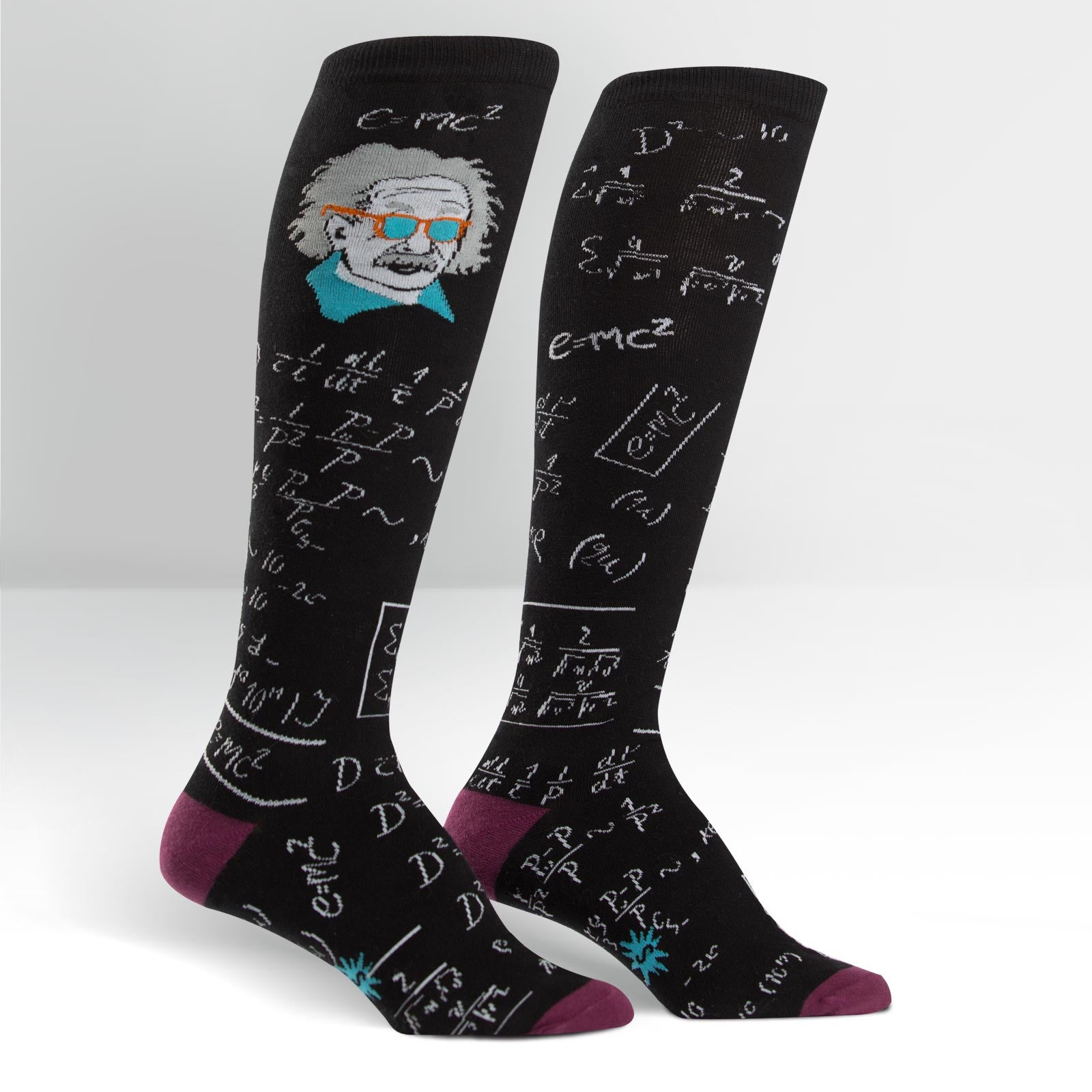 Sock It To Me Einstein Knee Socks aka Relatively Cool