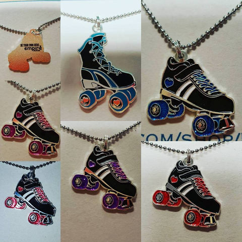 Derby Love Skate Necklace